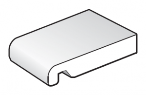 175mm White Bullnose replacement Fascia Board - 2.5m length