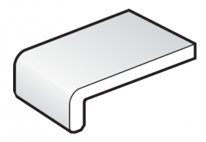 250mm White FloPlast Capping Fascia Board - 5m length