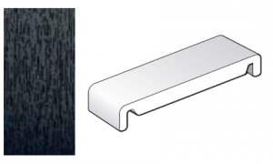 404mm Black Ash Replacement Fascia Board - Double Ended - 1m length