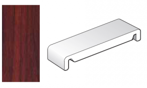 404mm Rosewood Replacement Fascia Board - Double Ended - 1m length