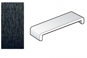 454mm Black Ash Capping Fascia Board - Double Ended - 1.25m length