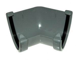 FloPlast Anthracite Grey Guttering High Capacity 135° Corner