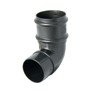 FloPlast Cast Iron Effect 68mm Round Downpipe 92.5° Offset Bend