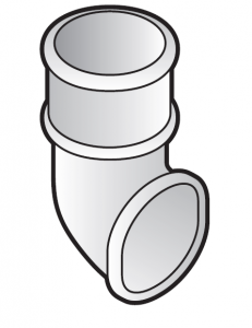 FloPlast 50mm Mini Downpipe (MiniFlo) Shoe