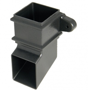 FloPlast Cast Iron Effect 65mm Square Downpipe Shoe with fixing lugs