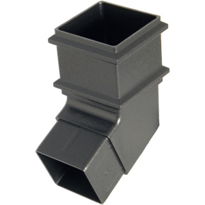 FloPlast Cast Iron Effect 65mm Square Downpipe 112.5° Offset Bend