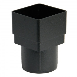 FloPlast Cast Iron Effect Square to Round Downpipe Adaptor