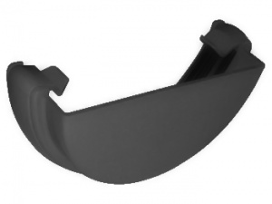 FloPlast Anthracite Grey Guttering Half Round External Stopend