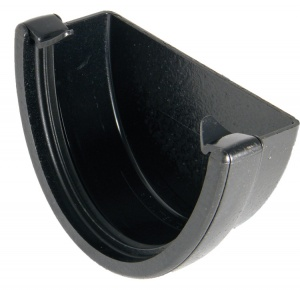 FloPlast Cast Iron Effect High Capacity Gutter External Stop End
