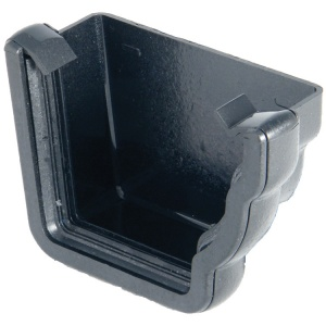 FloPlast Cast Iron Effect Niagara Ogee Gutter Right Hand External Stop End