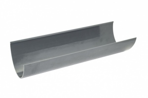 FloPlast Anthracite Grey PVCu High Capacity Gutter 4Mtr Length
