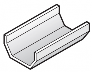 114mm Square Gutter 2M length