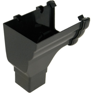FloPlast Cast Iron Effect Niagara Ogee Gutter Left Hand Stopend Outlet