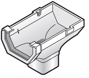 114mm Square Gutter Stop End Outlet