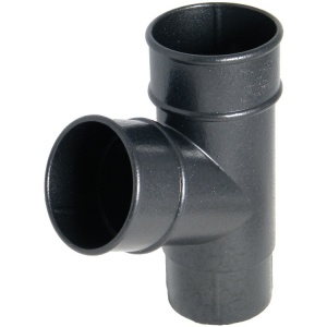 FloPlast Cast Iron Effect 68mm Round Downpipe 67.5° Branch