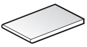 FloPlast 404mm White Solid Soffit Board - 2.5m length