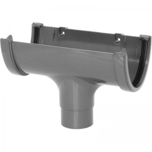 FloPlast Anthracite Grey Guttering High Capacity 68mm Running Outlet
