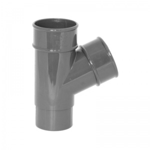 Floplast Anthracite Grey Round Downpipe 112.5°  Branch
