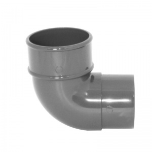 Floplast Anthracite Grey Round Downpipe 92.5° Offset Bend