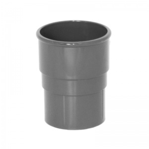 Floplast Anthracite Grey Round Downpipe Joint Socket