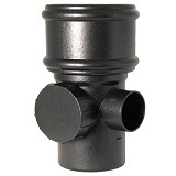 FloPlast Cast Iron Effect Soil Access Pipe - Single Socket