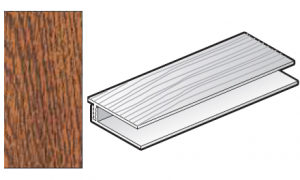 FloPlast Golden Oak Cladding Top Edge Trim - 2 part - 5m length