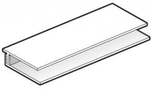 FloPlast White Cladding Top Edge Trim - 2 part - 5m length