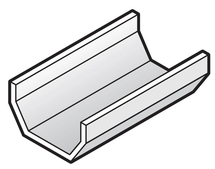 114mm Square Gutter 4m Length Pvcbuildingproducts Co Uk