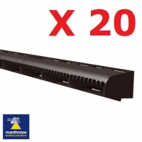 20 x Manthorpe Over Fascia Vent - 1mtr Black Lengths