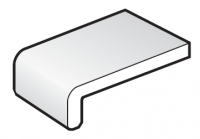 225mm White FloPlast Capping Fascia Board - 5m length