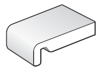 225mm White Replacement Fascia Board - 5m length
