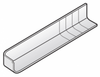 250mm White Replacement Fascia Board Corner Cover