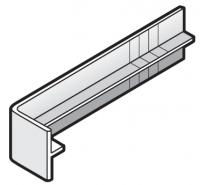 250mm White Replacement Fascia Board Joint Cover