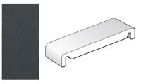 404mm Anthracite Grey Replacement Fascia Board - Double Ended - 1m length