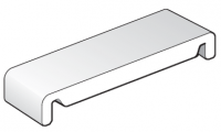 404mm White Replacement Fascia Board - Double Ended - 1.25m length