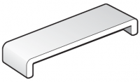 454mm White FloPlast Capping Fascia Board Box End Section - Double Ended - 1.25m length