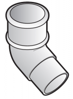 FloPlast 50mm Mini Downpipe (MiniFlo) 112.5° Offset Bend