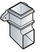 65mm Square Downpipe Shoe WITH Fixing Lugs