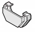 114mm Square Gutter External Stop End