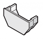 114mm Square Gutter Internal Stop End