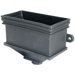 FloPlast Cast Iron Effect Rectangular Hopper with fixing lugs