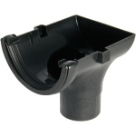 FloPlast Cast Iron Effect Half Round Gutter Stopend Outlet