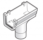 FloPlast Niagara Ogee Stopend Outlet Right Hand to 80mm Round Downpipe