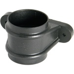 FloPlast Cast Iron Effect 68mm Round Downpipe Joint Socket with fixing lugs
