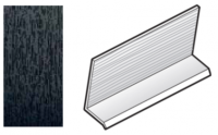 FloPlast Black Ash Cladding Drip Trim - 5m length