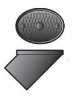 FloPlast 110mm Underground Drainage PVC Oval Rodding Point - Plain End
