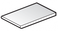 FloPlast 304mm White Solid Soffit Board - 2.5m length
