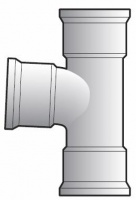 FloPlast 87.5° 110mm Underground Drainage T Junction - Triple Socket