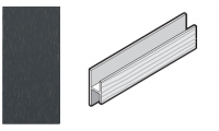 FloPlast Anthracite Grey H Trim / Soffit Joint Trim - 5Mtr