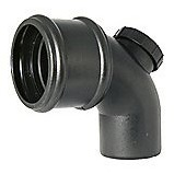 FloPlast Cast Iron Effect Soil Pipe 92.5° Access Bend - Single Socket